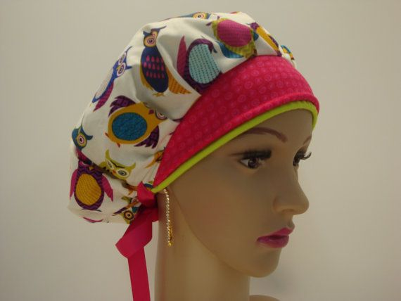 Elegant Handmade-Bouffant Cap-Medical Scrub-Woman-100% Cotton. This style has-been designed for Individuals That the hair like to keep