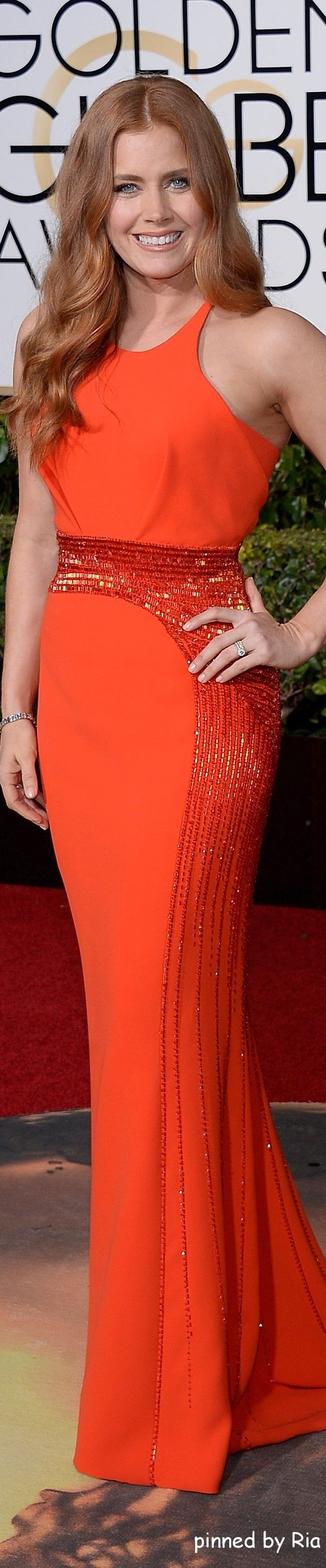 Amy Adams in Atelier Versace l Golden Globe Awards 2016 l Ria