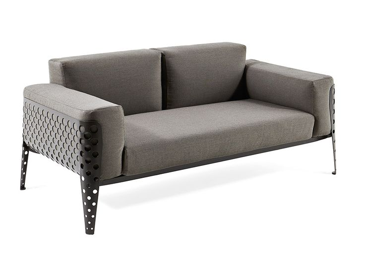 Two Seater Sofa With Powder Coated Steel Structure. #sofa #pois #dueposti