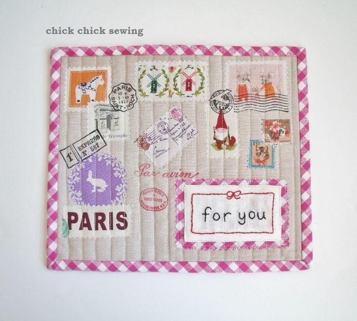 https://flic.kr/p/fbAY6h   Airmail mug rug made from Zakka Handmades, my book!   blogged