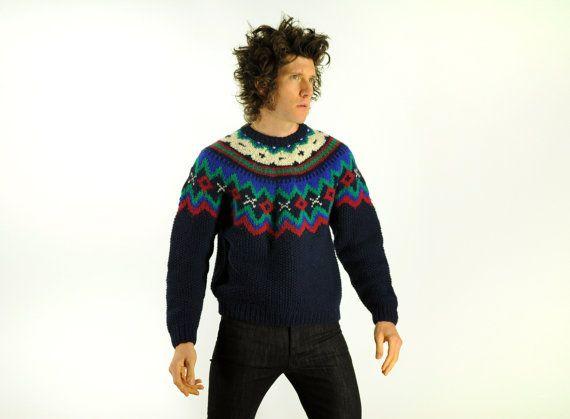 vintage Woolrich fair isle sweater par CarnivalOfTheManiac sur ...