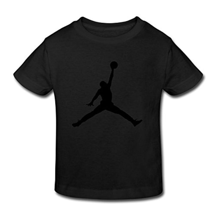 Toddler's 100% Cotton Jumpman Logo Funny T-Shirt Black US Size 3 Toddler - Brought to you by Avarsha.com