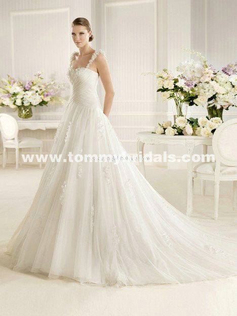 La Sposa Mora A-Line Organza And Tulle Wedding Gown
