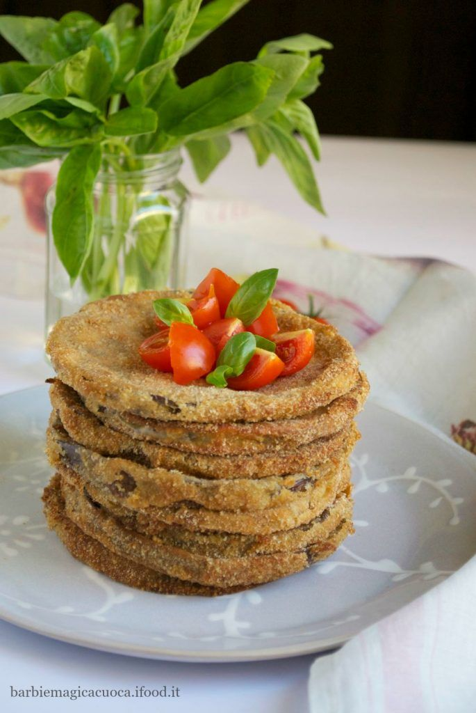 Cotolette di melanzane al forno - melanzane tonde panate e poi cotte al forno (ricetta senza frittura)