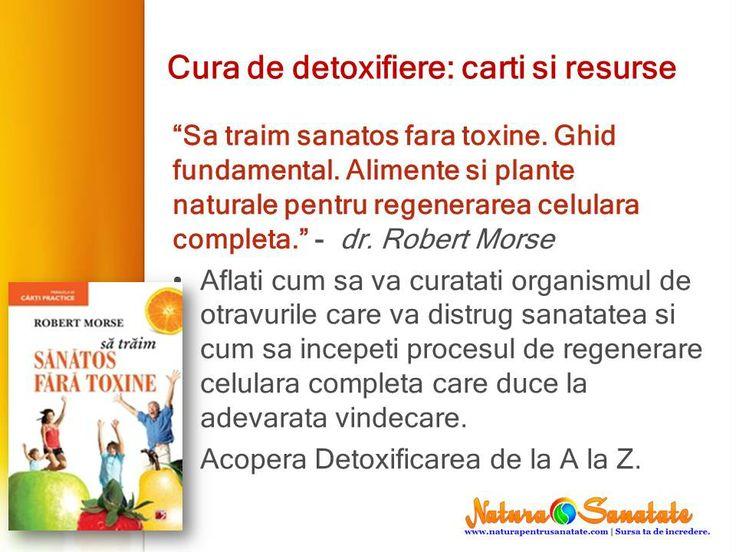 "#Cura_de_detoxifiere: carti recomandate. ""Sa traim sanatos fara toxine."" dr. Robert Morse --> http://naturapentrusanatate.com/carti-recomandate-sa-traim-sanatos-fara-toxine-dr-robert-morse/"