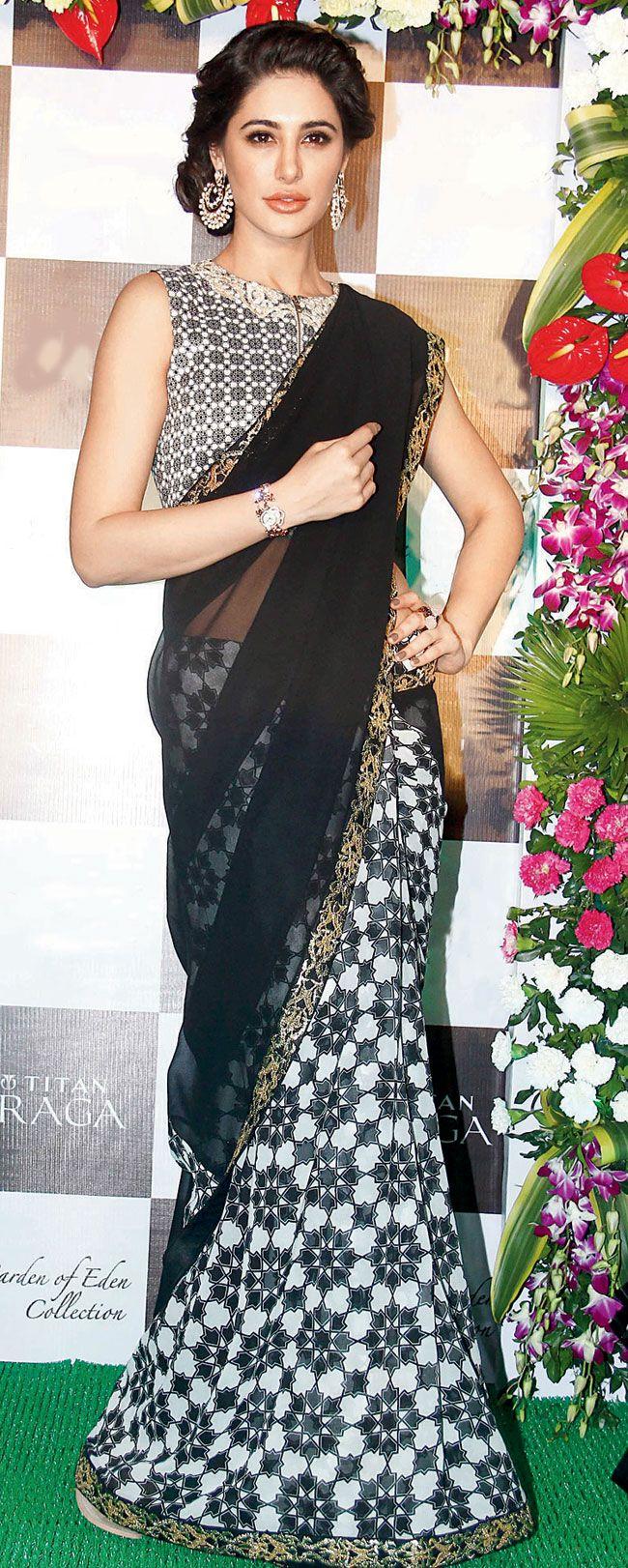 Nargis Fakhri at a Titan Raga launch event.
