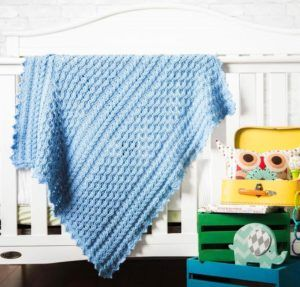 Cabled Cherub Baby Blanket KIT