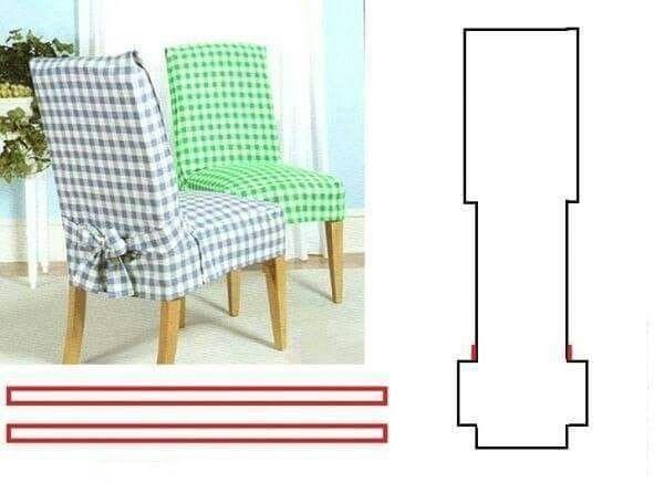 Les 187 meilleures images propos de chaise couvre chaise for Patron pour housse de chaise
