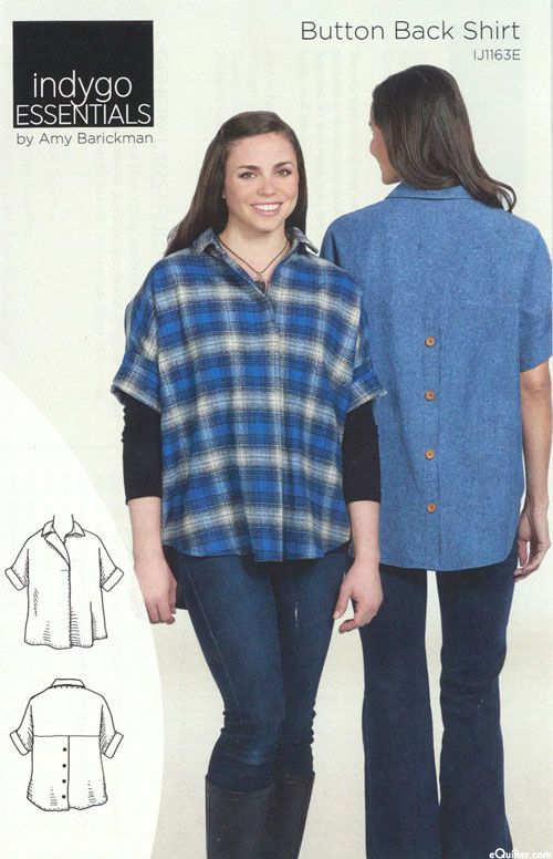 Button Back Shirt - Pattern by Amy Barickman | Sewing | Pinterest
