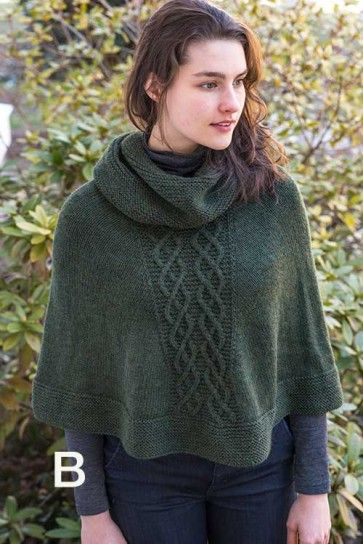 Cowl Neck Poncho Knitting Pattern : 255 best images about Sweater Knitting Patterns on Pinterest Quick knits, C...