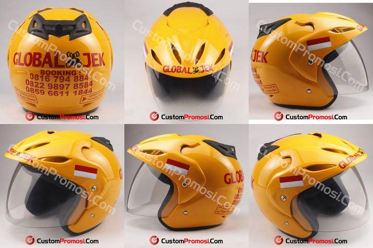 """Helm Promosi Pesanan """"GLOBAL JEK"""" Info Harga Hubungi +6281287068190"""