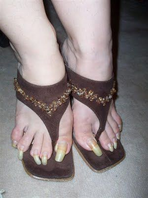 """This is way worse than the long pink toenails.  Just wanted you to squeal, """"eeeeew."""""""