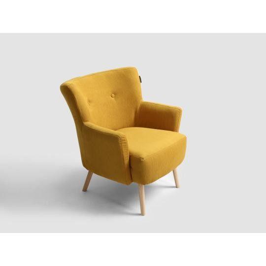 Fotel złota kukurydza Gustav Arm