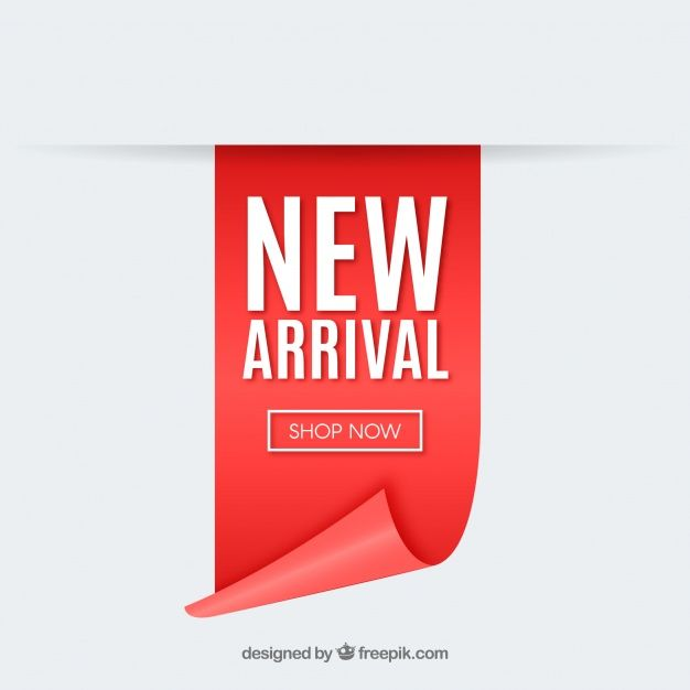 Modern New Arrival Composition With Realistic Design Promotional Design Vector Free Design