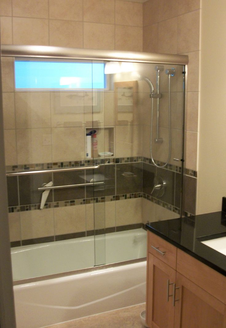 Glass Door On Bathtub Remodeling A Small Bathroom For