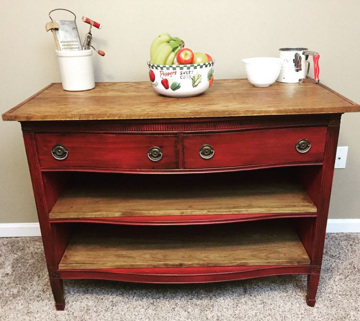 From Antique Dresser To Rustic Kitchen Island. This 100