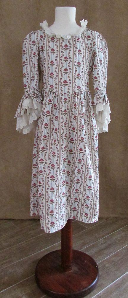 8 child sz Pleasant Co. American Girl doll Felicity Rose Meet costume dress like #PleasantCompany #Dress