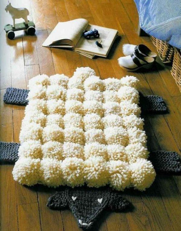 die besten 25 bommel teppich ideen auf pinterest bommel. Black Bedroom Furniture Sets. Home Design Ideas