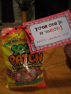 """You're one in a """"melon""""! One of the only cute sour patch kids puns"""