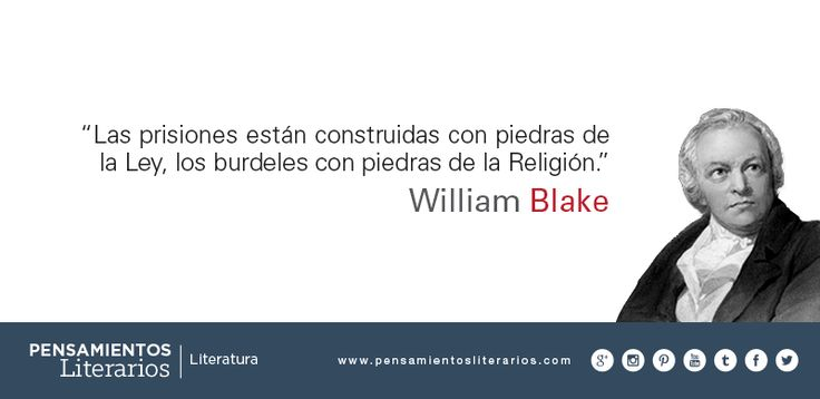 William Blake. Sobre la ley y la moral.