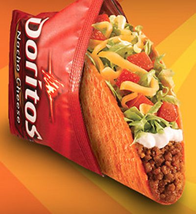 Doritos Flavored Taco Shells at Taco Bell.  Heck yeah!!! I am confused and intrigued.