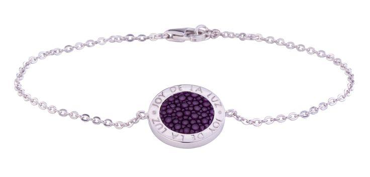 Joy de la Luz | Silver bracelet stingray purple  €69,95