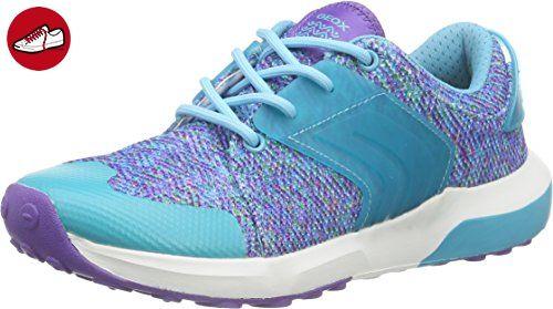 Geox J ASTEROID GIRL B, Mädchen Sneakers, Türkis (VIOLET/WATERSEAC8349), 33 EU - Geox schuhe (*Partner-Link)