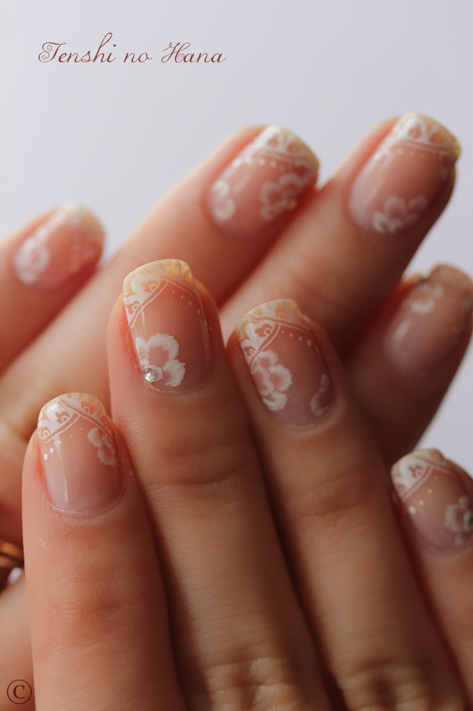 This is an absolutely gorgeous application. I have to wonder what bride to be has the time to sit through all of this days before her wedding? For a similar,but simplier look, www.lauriecasey.jamberrynails.net