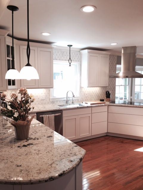 We have finished off this beautiful kitchen with a ...