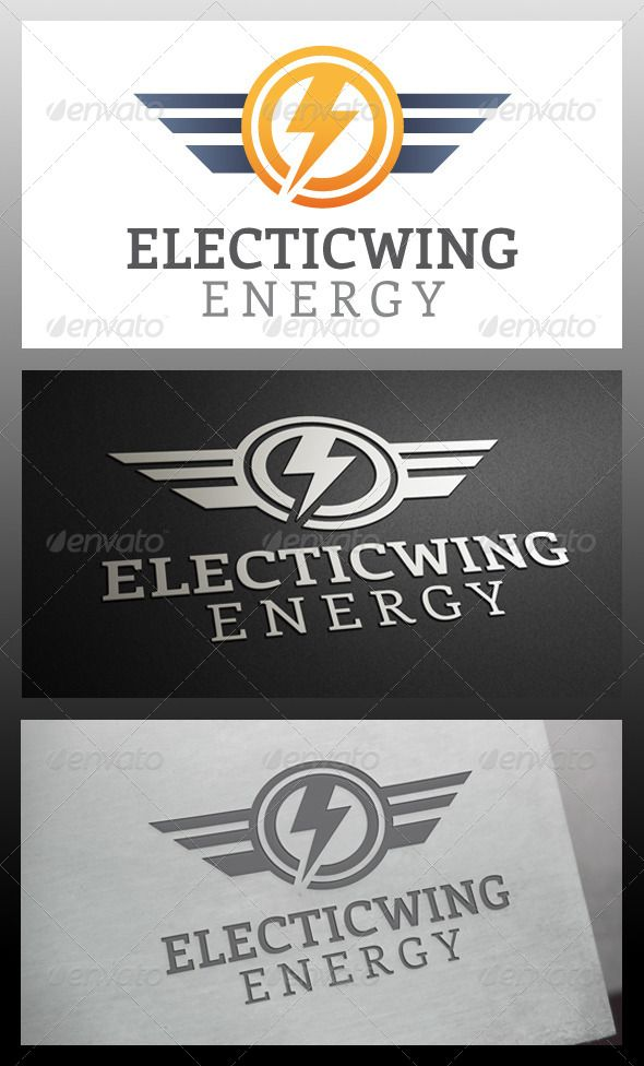 Electric Wings Logo Template