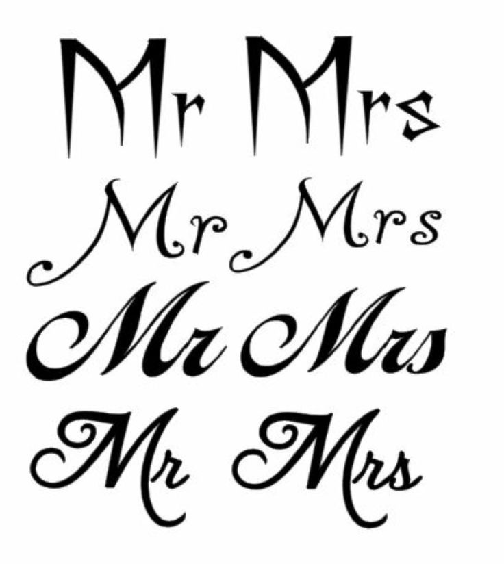 Mr And Mrs Vinyl Decal Sticker For Wine Glasses Different