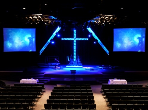 Stage Design Ideas chained christmas from first baptist church in elgin il church stage design ideas Church Stage Design Ideas