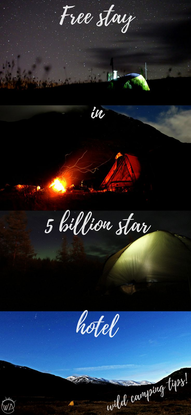 How to comfortably stay in 5 billion star hotel? Learn those wild camping tips to help you camp with amazing views. | Worldering around Travel for free, cheap travel, budget travel, camping, wild camping, nature, stay with a view, best places to camp, camping gear, wild camping guide, what to take camping, where to camp, how to prepare for camping, wild camping Scotland, camping in Europe, camping Iceland, Iceland on the budget, travel on a budget