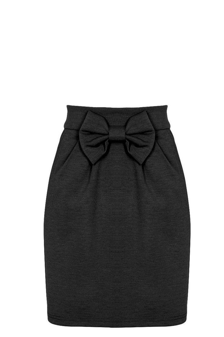 Falda lisa con lazo naranja/azul/negro de Vero Moda - 19.95€ | EAT
