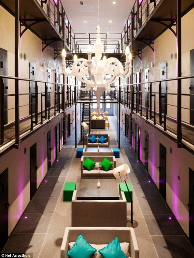 Grim: As one of the Netherlands' most feared prisons for almost 150 years, Het Arresthuis was not a place you would want to stay