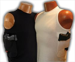 Conceal and Carry T-Shirts - Shirts with Reinforced & Interchangeable Concealed Holsters by Packin Tee
