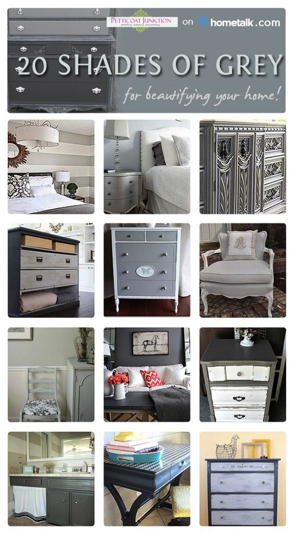 shades of grey home decor, furniture, curtains, and more.#gray #grey