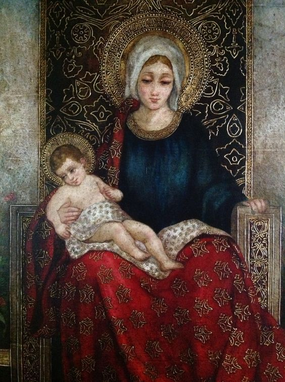 Madonna and the Christ Child by Argentine artist Diana Mendoza at Casa Jacaranda in South Texas.