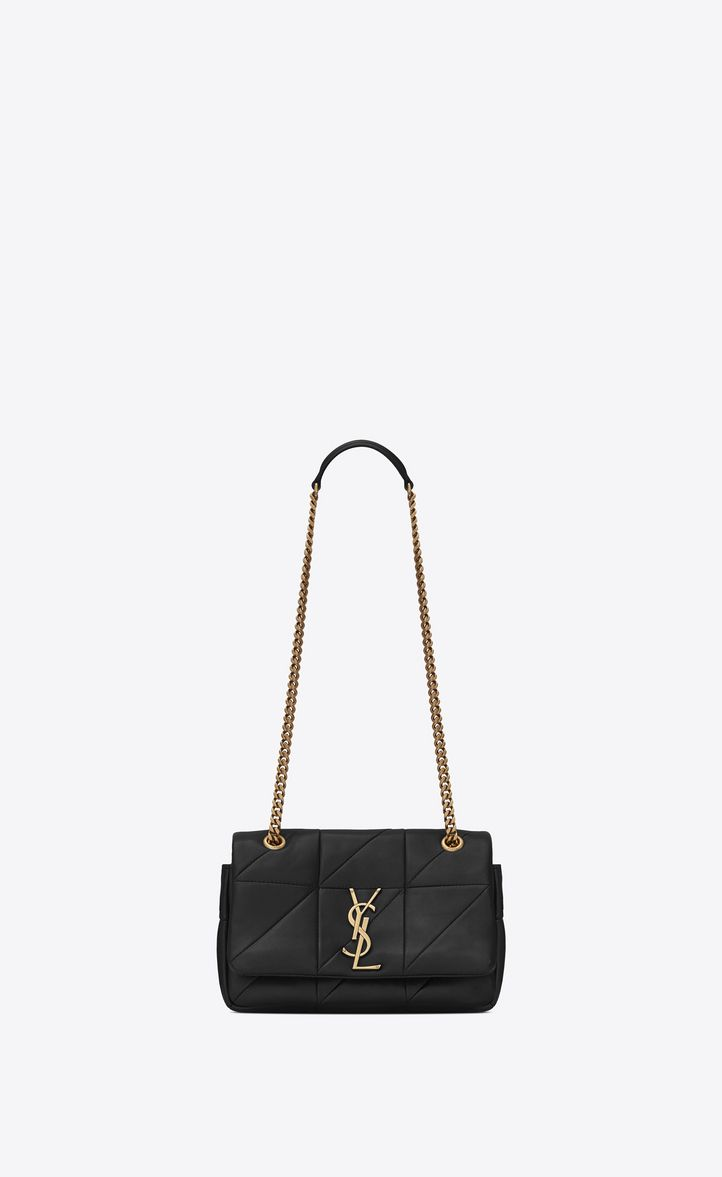 SAINT LAURENT SMALL JAMIE BAG IN BLACK PATCHWORK LEATHER.  saintlaurent   bags  shoulder bags  leather   e02d1a5b76