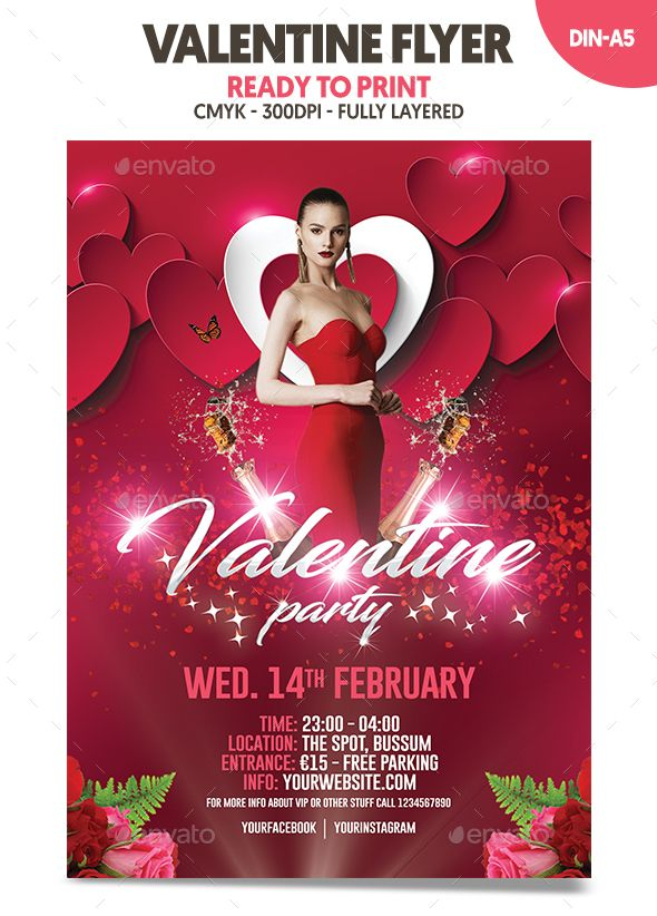 654 Best Valentines Flyer Templates Images On Pinterest