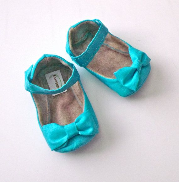 CORA baby girl shoes  turquoise blue/ aqua shoes by HarperDaisy, $27.95