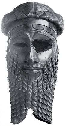 This is so beautiful to me. Bust of Sargon of Akkad, great Mesopotamian king. (damaged by thieves stealing gems from eyes)