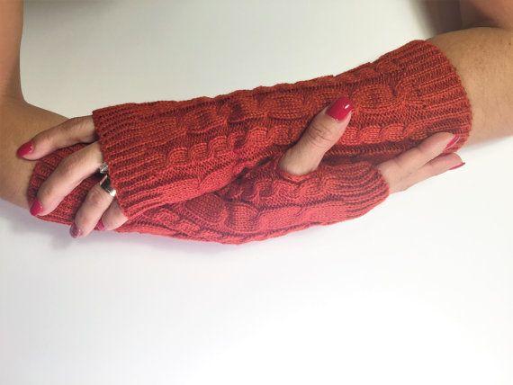 Fingerless Gloves, Knitted Arm Warmers, Hand Warmers,Stocking Stuffers, Fall Mittens, Women Gloves