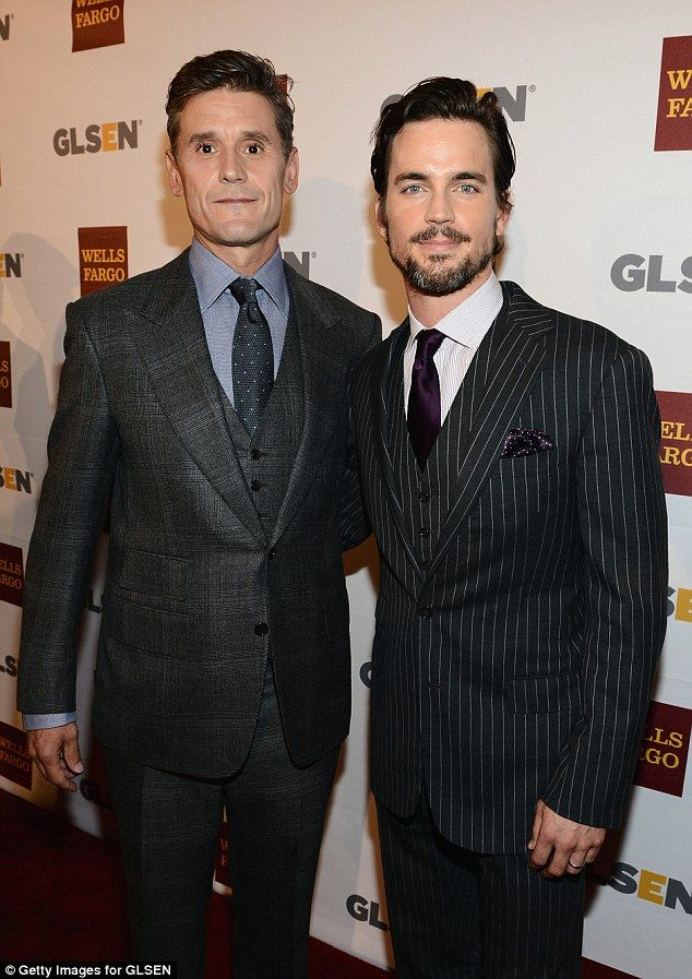 Family of five: Matt Bomer is married to publicist Simon Halls and together they have three children