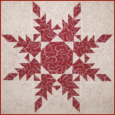 Trial block for a Feathered Star quilt.