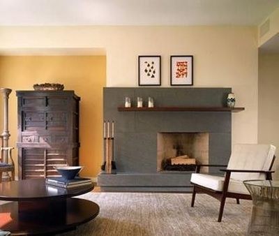 Off Center Fireplace Design Ideas Pictures Remodel And Decor Cwb Architects Via Houzz