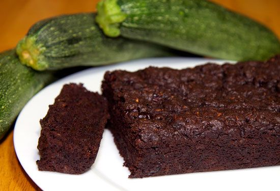 chocolate zucchini bread- whole wheat flour, banana puree to reduce sugar, cocoa and zucchini. Call it brownies and no one will know the difference!
