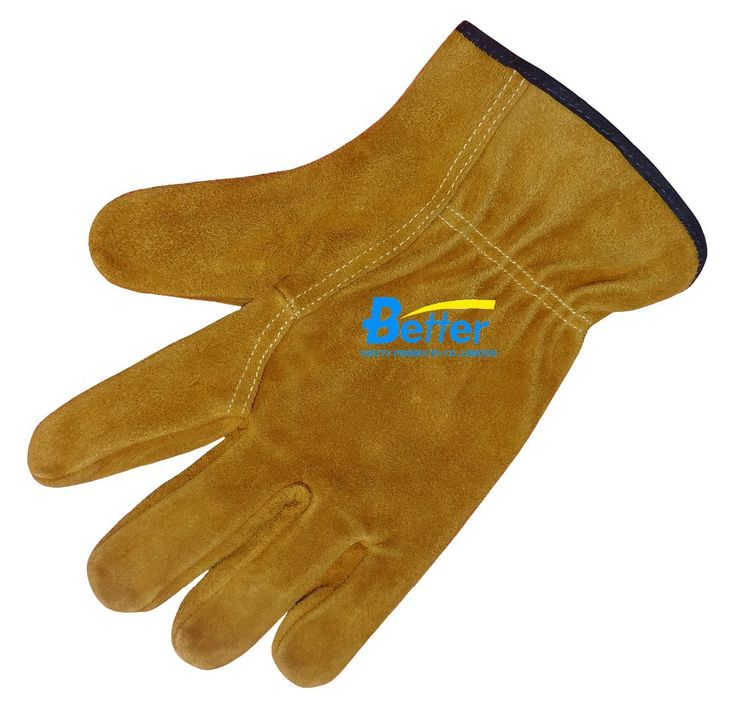 leather work gloves slip-resistant workiing gloves split cow leather driver safety glove #Affiliate