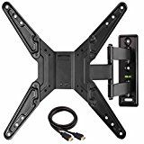 Mounting Dream MD2393-MX TV Wall Mount Bracket for most of 26-55 Inch LED, LCD, OLED and Plasma Flat Screen TV with Full Motion Swivel Articulating Arm up to VESA 400x400mm and 78 lbs   Heavy duty unit fits for most of 26-55″ TVs up to 78 LBS, with max VESA of 400 x 400mm/mounting holes...