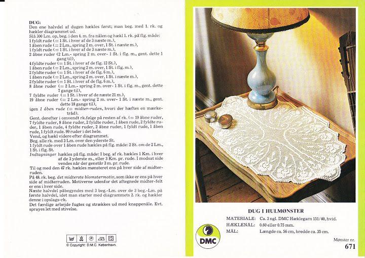 Hæklet dug i hulmønster 35X56 - Anna Andersen - Picasa Web Albums
